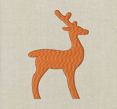 BOGO FREE! Deer Silhouette, Machine Embroidery Design, Deer design, Digital instant download file,  A003 by EasyStitchesForYou on Etsy Deer Silhouette, Silhouette Machine, Deer Design, Applique Embroidery Designs, Iron On Patches, Moose Art, Kids Rugs, Digital, Free