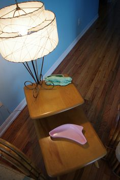 heywood wakefield step end table this is not my house but have the table mid century modern