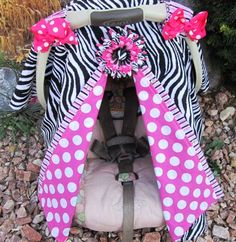 Car Seat Cover - WAY too much going on here, but I like the concept of something to go over the seat.