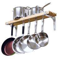 Wall Mount Pot Holder Rack Pan Cookware Storage Kitchen Organizer Shelf Hanger