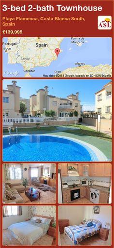 3-bed 2-bath Townhouse in Playa Flamenca, Costa Blanca South, Spain ►€139,995 #PropertyForSaleInSpain