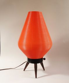 Pair of Mid Century Modern Beehive Table Lamps - Orange | Lamps | Pinterest  | Beehive, Mid-century modern and Mid century