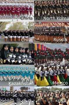 Military women around the world...