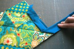 Quilted Potholder/Quilt Binding Tutorial