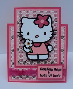Crafted With Love By Karen: Hello Kitty Card and Post-It-Note Holder