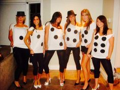 Dice - DIY Halloween group costume for 6 girls