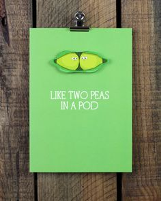 Like Two Peas in a Pod Personalised Greeting Card by TacheCrafts