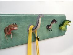 DIY Dinosaur Hooks!  Photo