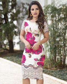 ad1e63974c Vestido Tubinho Floral - Moda Evangélica - Flor de Amêndoa
