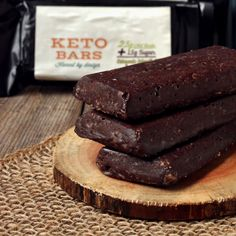 Ten of our individually wrapped dark chocolate coconut Keto Bars. Only 2.5g Net Carbs each!