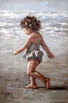 """""""Walking On The Beach"""" by Maria Oosthuizen:"""