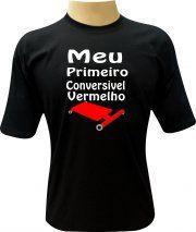 Camiseta Meu primeiro conversível vermelho.