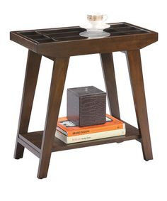 Another great find on #zulily! Espresso Glass-Side End Table #zulilyfinds