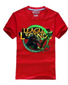 League of Legends gaming tshirt Twitch printed for boys short sleeve-