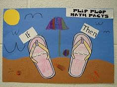 cute way to show adding numbers in any order.  Flip Flop Math Facts