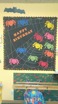 October/Halloween birthday board