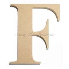 "Unfinished Wooden Letter - Uppercase """"F"""" - Times Font"