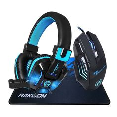 Cheap gaming headphone headset, Buy Quality headphones headset directly from China gaming headphones Suppliers: Deep Bass LED Light Pro Gaming Headphone DPI Adjustable 7 Buttons Pro Gaming Mouse Gift+Gaming Mouse Pad Gift Gaming Headset, Gaming Headphones, Best Headphones, Best Computer, Computer Mouse, Gaming Accessories, Logitech, Consumer Electronics, Led
