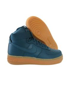 info for 564bb 1b13f NEW NIKE AIR FORCE 1 HI MIDNIGHT TURQUOISE WOMENS SNEAKERS Sizee 8 5  860544-300 NIKE WALKINGSHOES