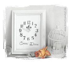 wie man aus den verschiedensten Bilderrahmen  tolle Uhren basteln kann ★ und was man dazu braucht verraten wir hier http://kreativ-zauber.de/bilderrahmen-uhren/