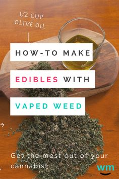 Allie shares how we can get the most out of our vaped weed! Who knew vaped weed would make delicious edibles?