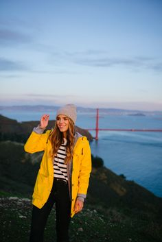 Gal Meets Glam Marin Headlands in my Petit Bateau Jacket, J.Crew Sweater and Jeans & APC Beanie