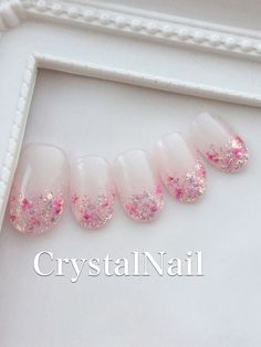 ふんわりラメフレンチ✨小花 in 2020 Gorgeous Nails, Pretty Nails, Nail Paint Shades, Self Nail, Hello Kitty Nails, Nail Techniques, Nails Now, Korean Nails, Kawaii Nails