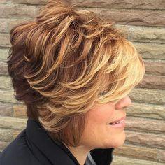 Short To Medium Layered Hairstyle