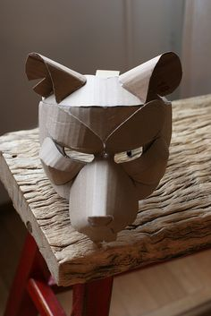 Rat mask, unpainted | Flickr - Photo Sharing!