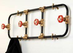 Cute fireman wall rack! @cloudb #BetterBedtimeGiveaway