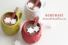 Homemade Marshmallow Snowflakes from Sweet Little Peanut