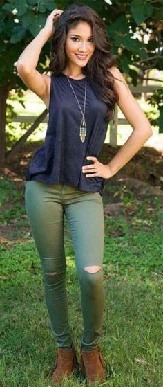 64 Best Olive pants outfit images in 2019  d013cc146