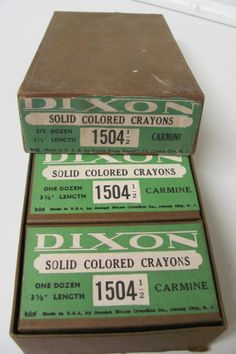Vintage 1930's Dixon Solid Colored Crayons by TheCedarChestMidland, $74.99
