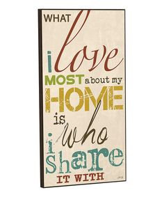 Look at this #zulilyfind! 'My Home' Wall Sign #zulilyfinds