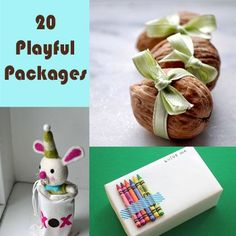 20 Playful Packages - perfect for ripping open! Would your kids love coloring on their presents?