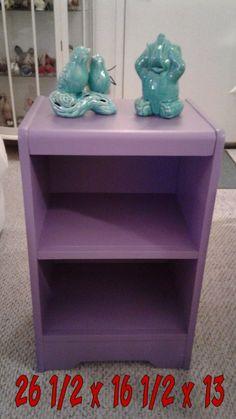 Lovely purple shelf