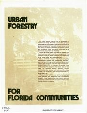 A guide to helping Florida communities create programs to manage trees in urban areas. Vintage Florida, Division, The Borrowers, Archive, Trees, Internet, Urban, Tree Structure, Wood