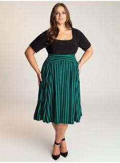 Felisha Dress by Igigi SO CUTE. love the stripey skirt.