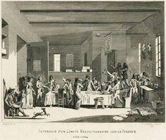 Intérieur d'un comité révolutionnaire sous la Terreur. Eau-forte de C.N.Malapeau