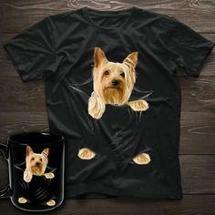 Silky Terrier, Yorkshire Terrier, Yorkie, T Shirts For Women, Yorkshire Terriers, Yorkies, Teacup Yorkie