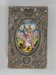 Book cover Date: ca. 1636 Culture: British Medium: Silk, bullion, silver, and silver-gilt thread on canvas and satin Dimensions: 7 1/8 x 4 3/4in. (18.1 x 12.1cm) Classification: Textiles-Embroidered