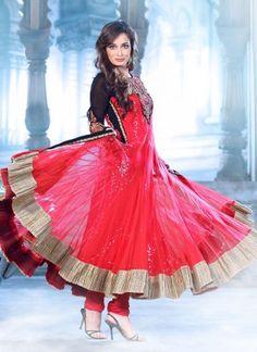 Bollywood diya mirza long ankle anarkali suit