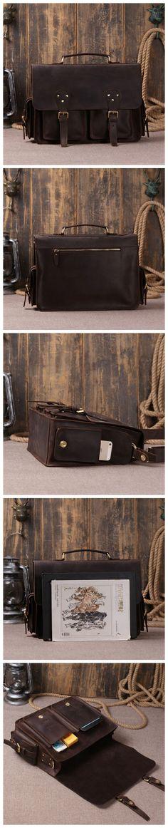 Dark Brown Designer Leather Handbags Leather Bags Shoulder Bag