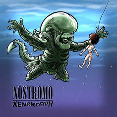 Nirvana's nevermind Alien styleNostromo Xenomorph