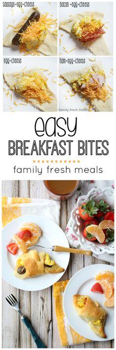 Easy Breakfast Bites -Yummy breakfast your family will love -  FamilyFreshMeals.com -