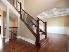Love the stairs & that the basement stairs are exposed.