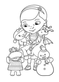 Doc mcstuffins coloring pages for kids