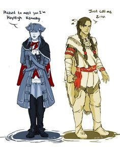 Genderbent haytham and ziio