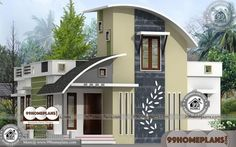 Contemporary One Level House Plans with Low Budget Awesome Designs One Level House Plans, Two Storey House Plans, Double Storey House, 2 Storey House Design, Small House Design, 1 Bedroom House Plans, Duplex House Plans, Modern House Plans, Small House Plans