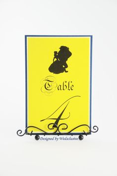 Beauty and the Beast Table Numbers Disney theme by Wedsclusive, been looking for something like this!